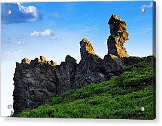 Hoher Stein Kraslice Czech Republic Acrylic Print by Aged Pixel