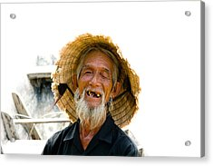 Hoi An Fisherman Acrylic Print
