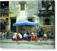 Hoi An Noodle Stall 02 Acrylic Print by Rick Piper Photography