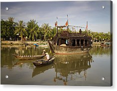 Hoi An River Boats Acrylic Print by Kim Andelkovic