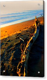 Acrylic Print featuring the photograph Hokitika Beach New Zealand by Amanda Stadther
