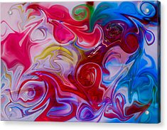 Hold My Love In The Palm Of Your Hand Acrylic Print by Omaste Witkowski