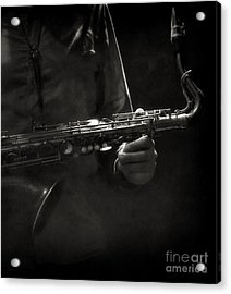 Hold On To Your Sax Acrylic Print by Michel Verhoef