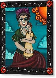 Holding Diegito Acrylic Print by Victoria De Almeida