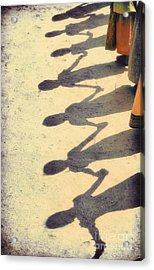 Holding Hands Acrylic Print by Tim Gainey