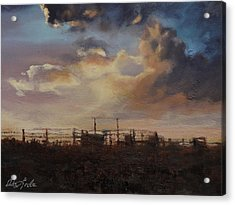 Holding The Big Sky Acrylic Print by Mia DeLode