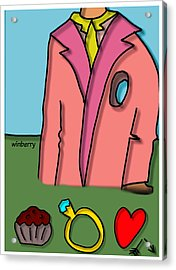 Hole In Heart Acrylic Print by Bob Winberry