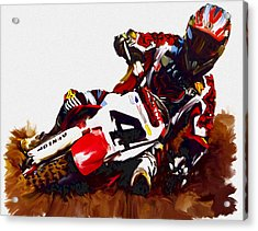 Hole Shot Ricky Carmichael Acrylic Print by Iconic Images Art Gallery David Pucciarelli