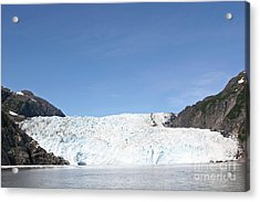Holgate Glacier Acrylic Print by Russell Christie