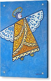 Holiday Angel Acrylic Print by Debra Spinks