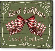 Holiday Candy Shops IIi Acrylic Print by Wellington Studio