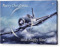 Acrylic Print featuring the painting Holiday Card by Stephen Roberson