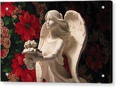 Holiday Childrens  Angel  Acrylic Print by Judyann Matthews