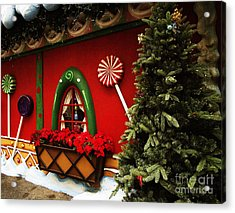 Holiday Cottage Acrylic Print by Anne Rodkin