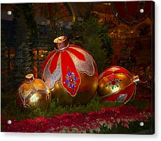 Holiday Decorations Acrylic Print by Lucinda Walter