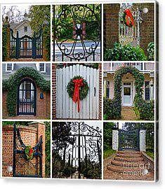 Holiday Gates Of Aiken's Winter Colony Acrylic Print