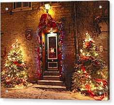 Holiday In Quebec City - Rue Du Petit Chaplain Lights Acrylic Print