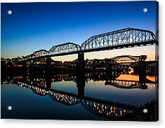 Holiday Lights Chattanooga Acrylic Print