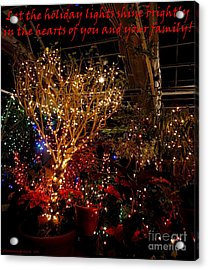 Holiday Lights Greeting Card Acrylic Print