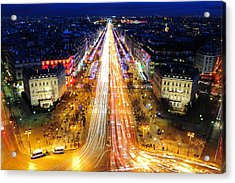 Holiday Lights On The Champs-elysees Acrylic Print