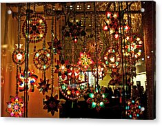 Acrylic Print featuring the photograph Holiday Lights by Suzanne Stout