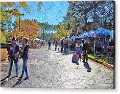 Holiday Market Acrylic Print by Ludwig Keck