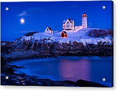 Holiday Moon Acrylic Print by Michael Blanchette