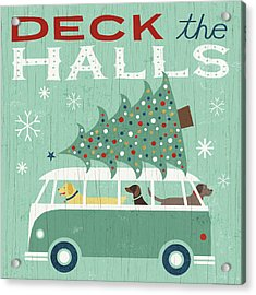 Holiday On Wheels Iv Acrylic Print