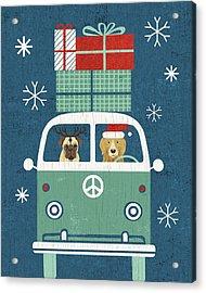 Holiday On Wheels Xii Navy Acrylic Print