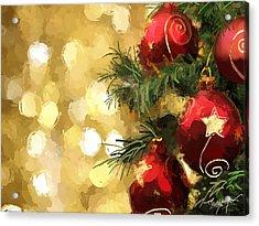 Holiday Ornaments Acrylic Print