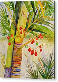 Holiday Palm Acrylic Print