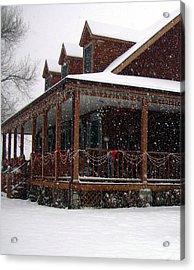 Holiday Porch Acrylic Print