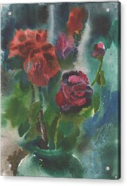 Holiday Roses Acrylic Print by Anna Lobovikov-Katz