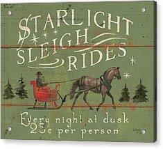 Holiday Signs II Acrylic Print by Wellington Studio