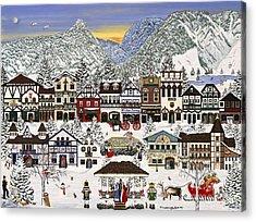 Holiday Village Acrylic Print by Jennifer Lake
