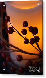 Holiday Warmth By Candlelight 1 Acrylic Print by Linda Shafer
