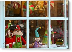 Acrylic Print featuring the photograph Holiday Window by Ann Murphy