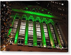 Acrylic Print featuring the photograph Holidays At Ny Stock Exchange by Robert  Moss
