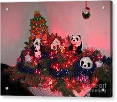 Holidays In Pandaland Acrylic Print by Ausra Huntington nee Paulauskaite