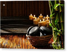 Holistic Massage Acrylic Print by Olivier Le Queinec