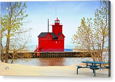 Holland Harbor Light Acrylic Print