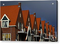 Holland Row Of Roof Tops Acrylic Print by Bob Christopher