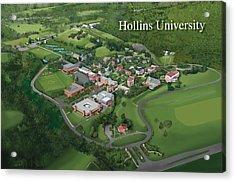 Hollins University Acrylic Print by Rhett and Sherry  Erb