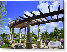 Hollis Pergola Acrylic Print by Laurie Perry