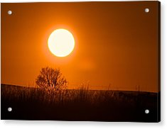Hollister Idaho Spring Sunset Acrylic Print