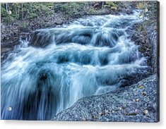 Hollow River Rapids Acrylic Print by Lee Burgess