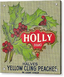 Holly Brand Yellow Cling Peaches Acrylic Print by Studio Art