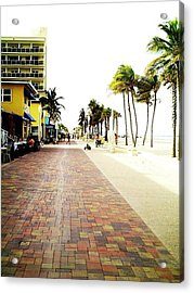 Hollywood Beach Acrylic Print by Lee Farley
