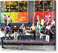 Hollywood Bus Stop Acrylic Print
