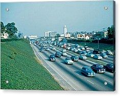 Hollywood Freeway 2 1954 Acrylic Print by Cumberland Warden
